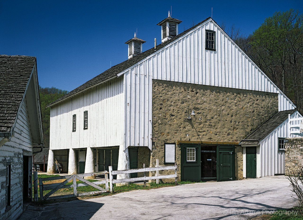 A Chester County Stone Posted Forebay Barn At Valley Forge Farm In Pennsylvania