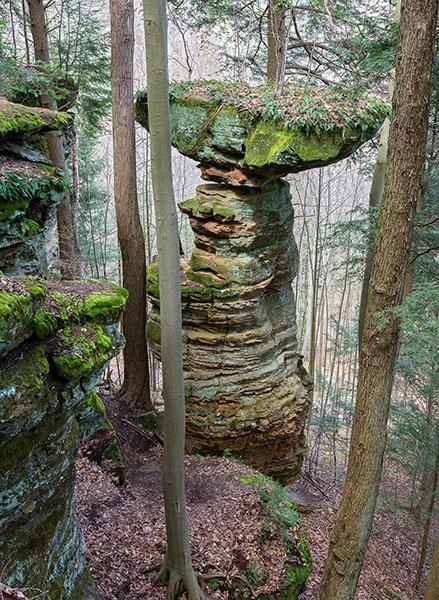 Picture Ohio Big Pine Pillar Hocking State Forest