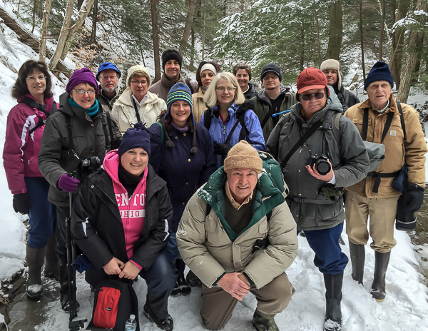 Group Photo in Stebbins Gulch, January 16, 2015 (iPhone 5 Photo)
