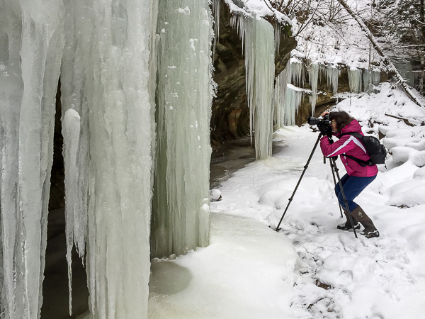 Photographing Icicles in Stebbins Gulch (iPhone 5 Photo)