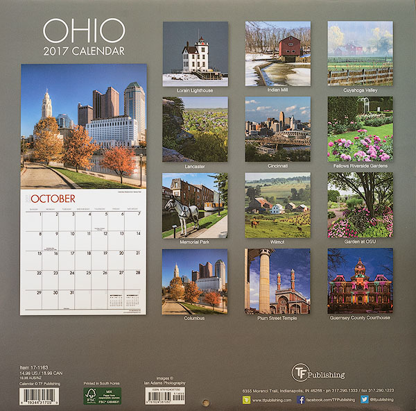 2017 Ohio And Ohio State Parks Nature Preserves Calendars Released By Tf Publishing